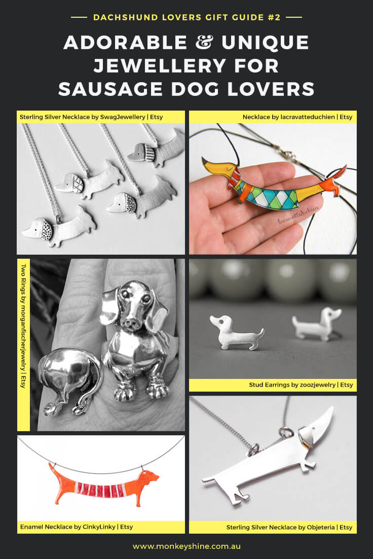 Adorable and unique jewellery gift ideas for sausage dog lovers